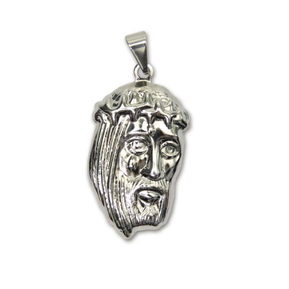 MD830455 - Medalha Face de Cristo Níquel - 4,2x2cm