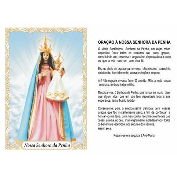 OG14070P100 - Oração N. Sra. Da Penha c/ 100un. - 9,5x6,5cm