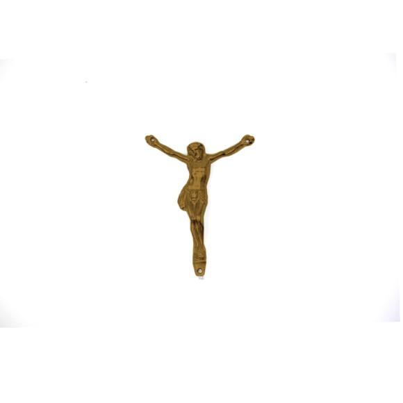 CW831102 - Jesus Cristo Crucificado Metal Ouro Velho c/ 2un. - 4x5cm
