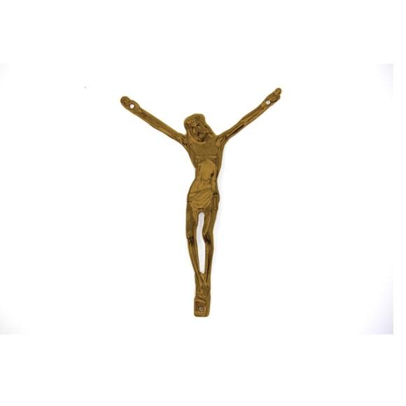 CW831105 - Jesus Cristo Crucificado Metal Ouro Velho c/ 2un. - 6X7cm