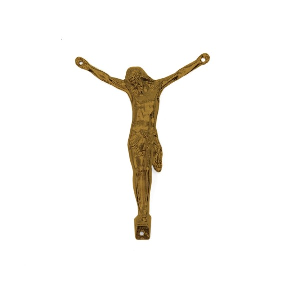 CW831106 - Jesus Cristo Crucificado Metal Ouro Velho - 7X8,5cm