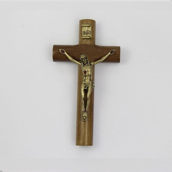 CW760131 - Crucifixo São Bento Madeira - 17x9cm
