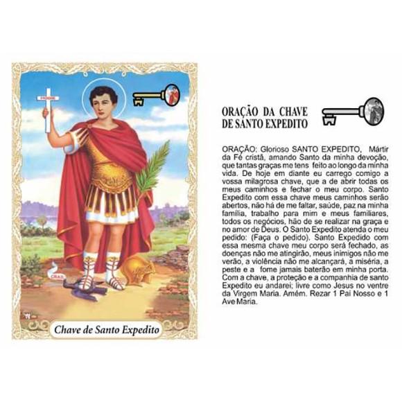 OG141409P100 - Oração Chave de Santo Expedito c/ 100un. - 9,5x6,5cm