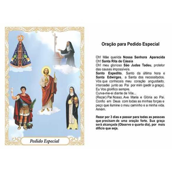 OG41814P100 - Oração Pedido Especial c/ 100un. - 9,5x6,5cm
