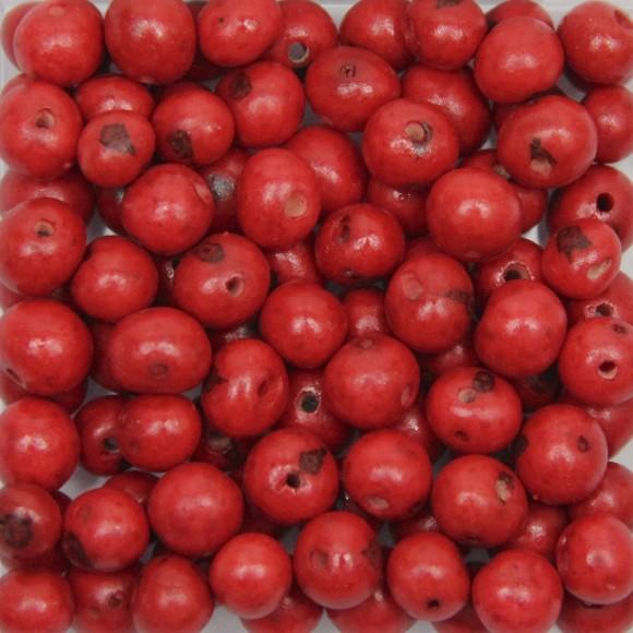 CTM1210005P100 - Contas Bolinhas Açaí Vermelho c/ 100un. - 8mm