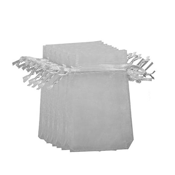 EM9620P100 - Saco de Organza Branca c/ 100un. 9x12cm