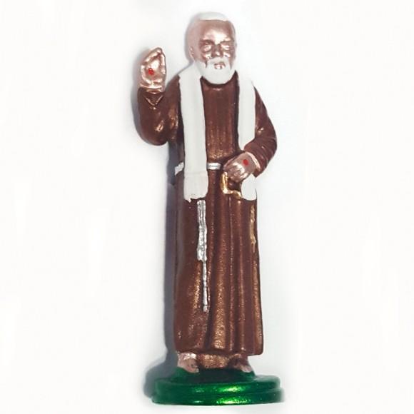 IM89420 - Imagem São Padre Pio de Pietrelcina Metal - 5x3cm