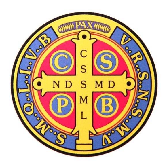 AD8211 - Adesivo Medalha de São Bento - 13,5x13,5cm