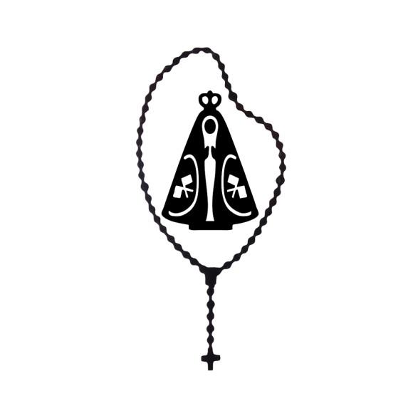 AD1500002 - Adesivo Terço N. Sra. Aparecida Preto - 12,5x6cm