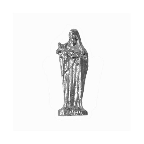 IM8809P3 - Imagem Miniatura Santa Rita de Cássia (Bolso) Metal Níquel c/ 3un. - 2,5X0,8cm