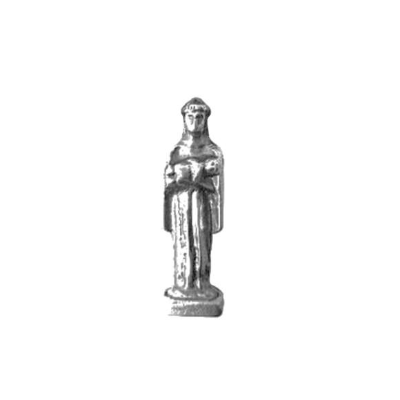 IM88401P3 - Imagem Miniatura São Benedito (Bolso) Metal Níquel c/ 3un. - 2,5X0,8cm