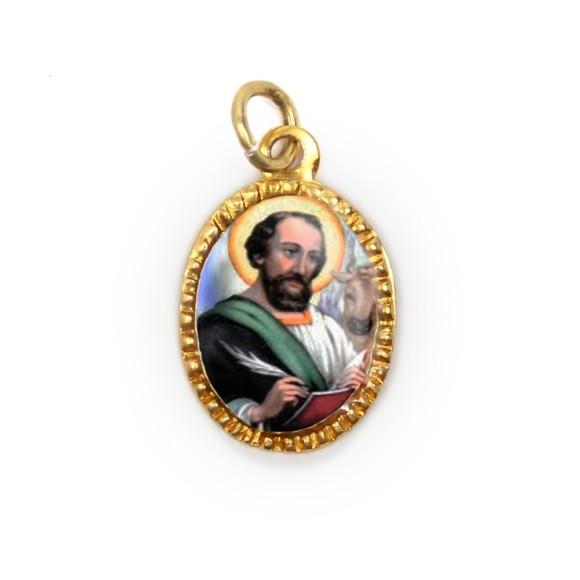 MD103259P10 - Medalha de Alumínio Oval Dourada c/ 10un. São  Lucas - 2X1,3cm