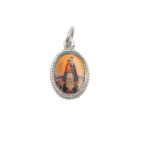 MD102411P20 - Medalha de Alumínio Oval Prata c/ 20un. N. Sra. Do Bom Parto - 1,5x1cm