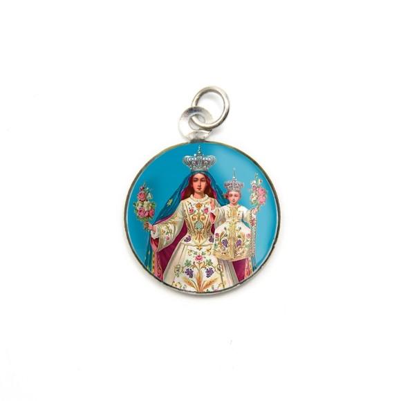 MD105011P3 - Medalha de Alumínio Redonda c/ 3un. N. Sra. Da Glória - 2,5x2cm