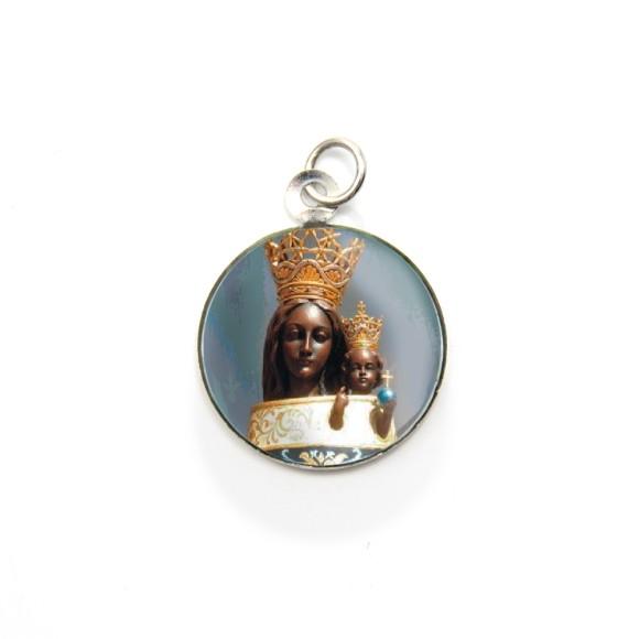 MD105027P3 - Medalha de Alumínio Redonda c/ 3un. N. Sra. Do Loreto - 2,5x2cm