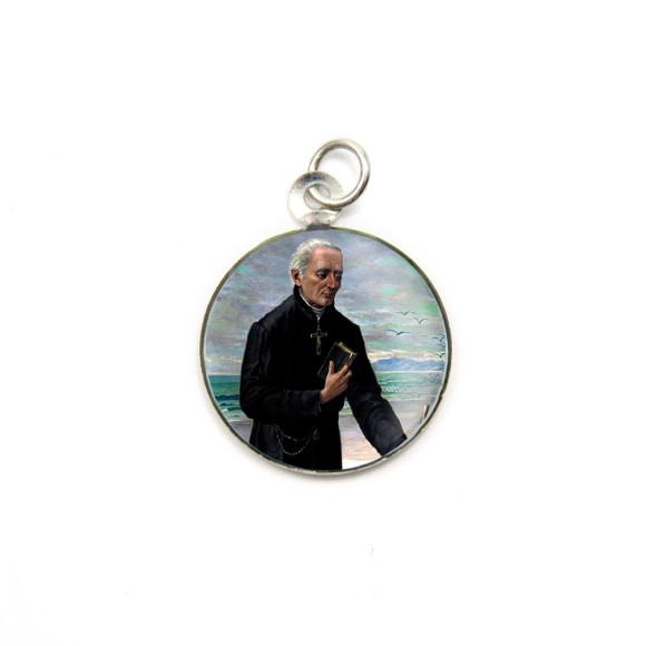 MD105204P3 - Medalha de Alumínio Redonda c/ 3un. Padre José de Anchieta - 2,5x2cm