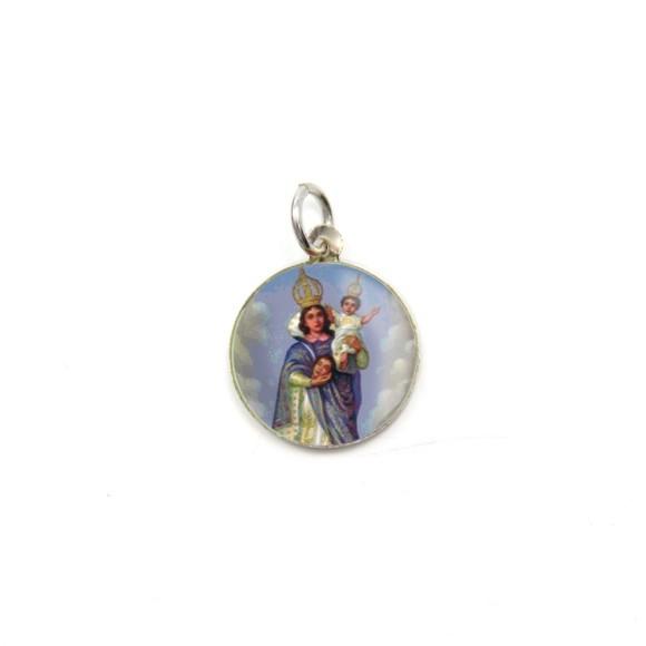 MD104008P5 - Medalha de Alumínio Redonda c/ 5un. N. Sra. Da Cabeça - 1,5x1,5cm