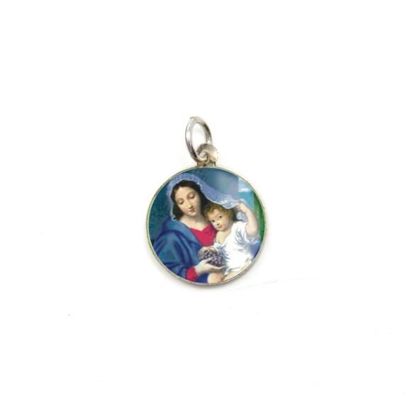 MD104011P5 - Medalha de Alumínio Redonda c/ 5un. N. Sra. Da Divina Providência - 1,5x1,5cm