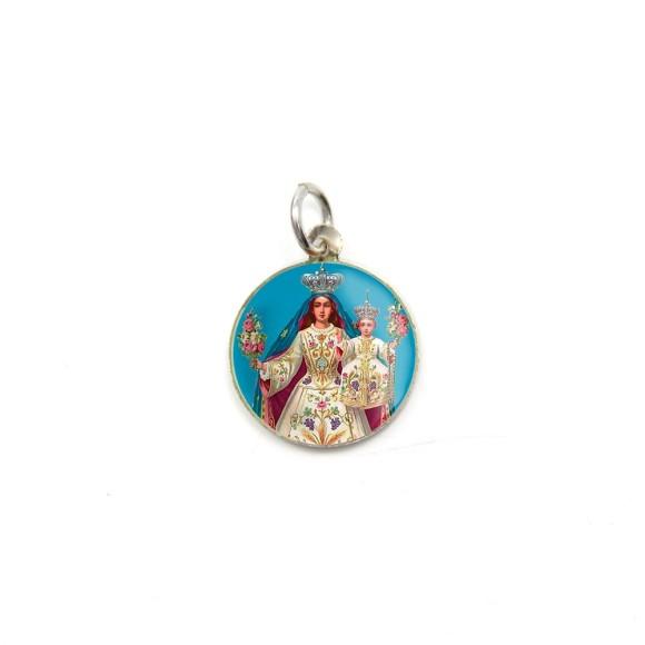 MD104012P5 - Medalha de Alumínio Redonda c/ 5un. N. Sra. Da Glória - 1,5x1,5cm