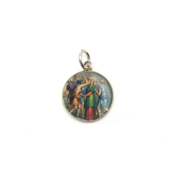 MD104038P5 - Medalha de Alumínio Redonda c/ 5un. Santa Apolônia - 1,5x1,5cm