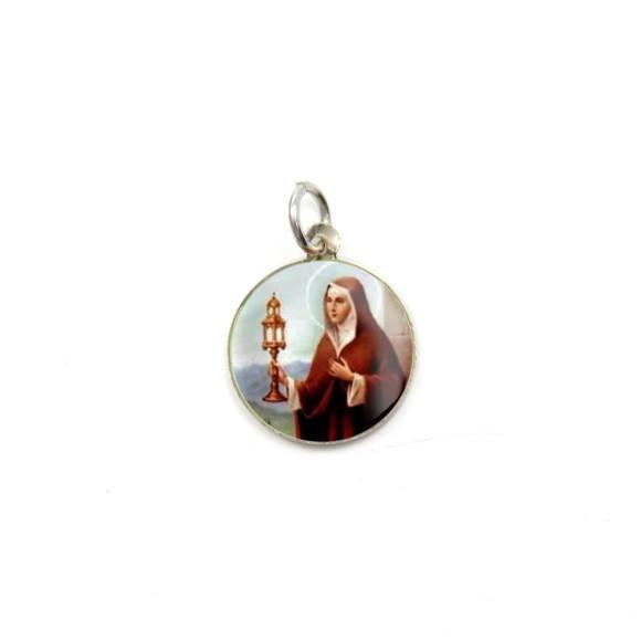 MD104040P5 - Medalha de Alumínio Redonda / 5un. Santa Clara - 1,5x1,5cm