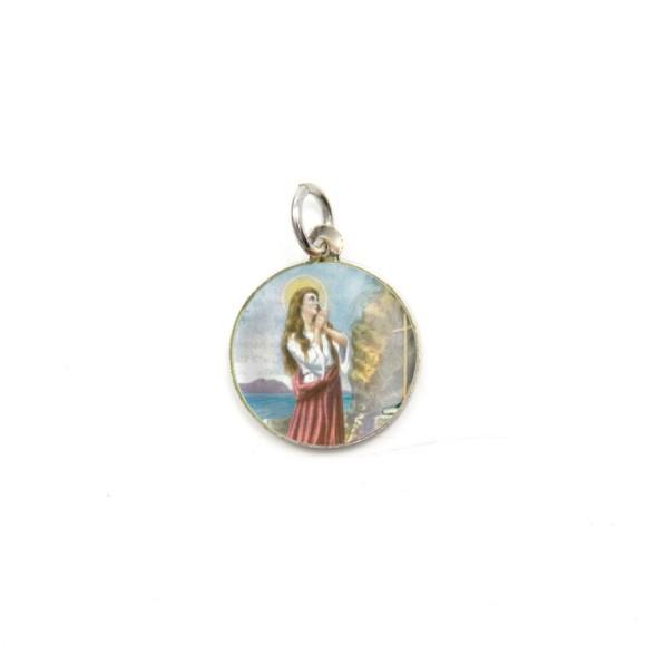 MD104050P5 - Medalha de Alumínio Redonda c/ 5un. Santa Madalena - 1,5x1,5cm