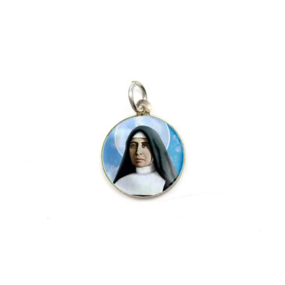 MD104053P5 - Medalha de Alumínio Redonda c/ 5un. Santa Paulina - 1,5x1,5cm