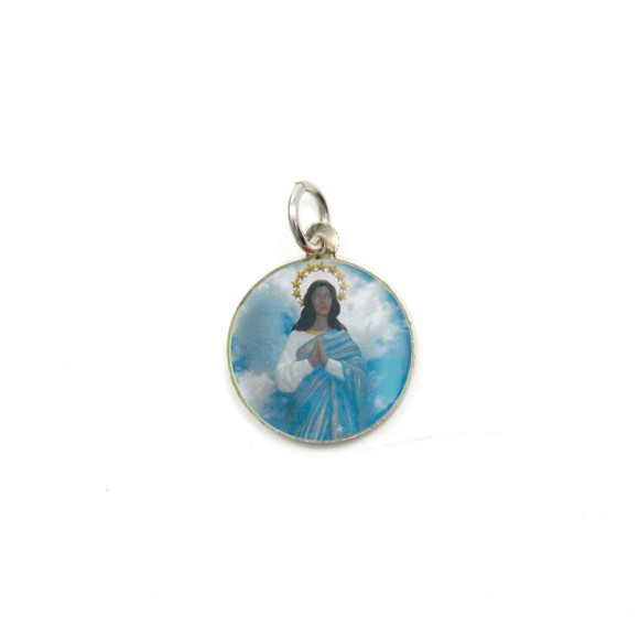 MD104055P5 - Medalha de Alumínio Redonda c/ 5un. Santa Sara Kali - 1,5x1,5cm