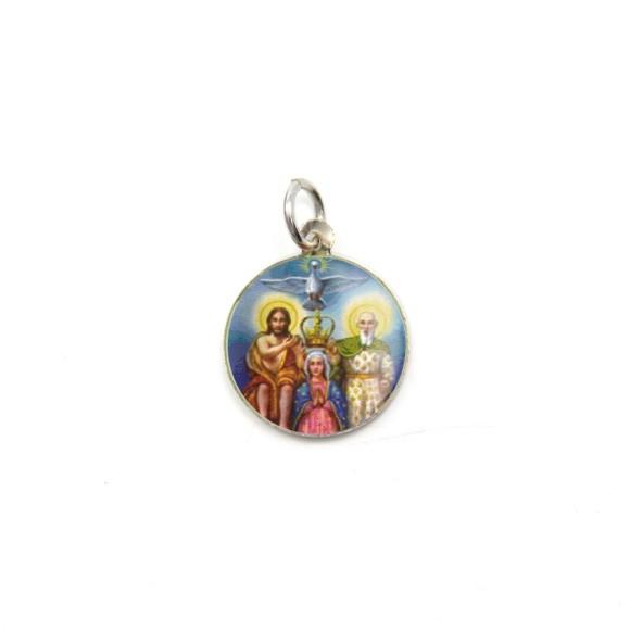 MD104200P5 - Medalha de Alumínio Redonda c/ 5un. Divino Pai Eterno - 1,5x1,5cm