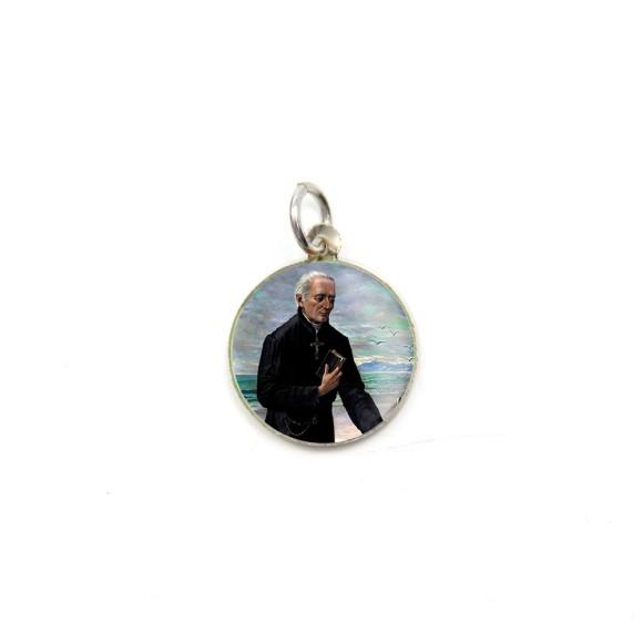 MD104209P5 - Medalha de Alumínio Redonda c/ 5un. Padre José de Anchieta - 1,5x1,5cm
