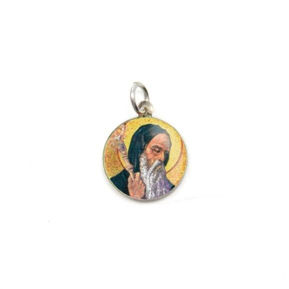 MD104216P5 - Medalha de Alumínio Redonda c/ 5un. São  Bento - 1,5x1,5cm