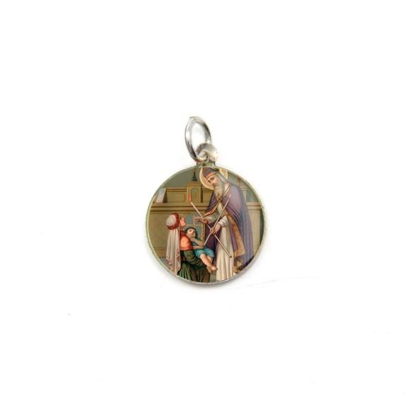 MD104218P5 - Medalha de Alumínio Redonda c/ 5un. São  Brás - 1,5x1,5cm