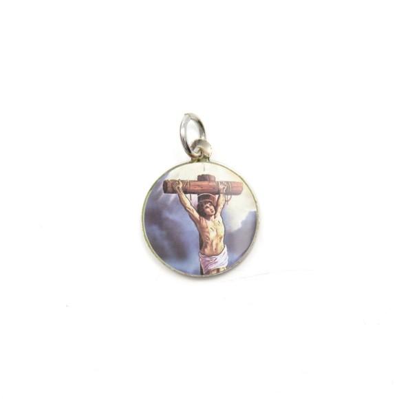 MD104222P5 - Medalha de Alumínio Redonda c/ 5un. São  Dimas - 1,5x1,5cm
