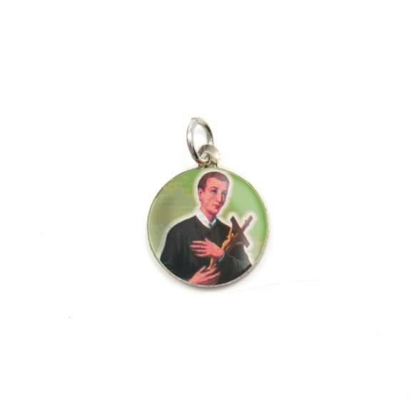 MD104224P5 - Medalha de Alumínio Redonda c/ 5un. São Geraldo - 1,5x1,5cm
