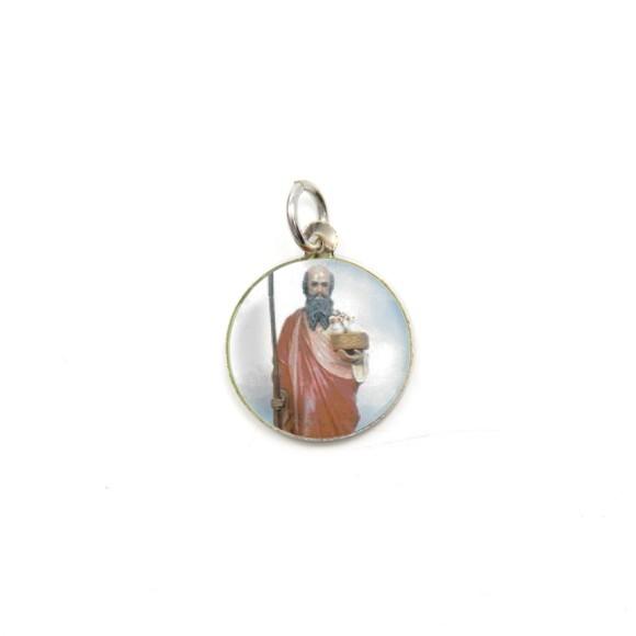 MD104228P5 - Medalha de Alumínio Redonda c/ 5un. São Joaquim - 1,5x1,5cm