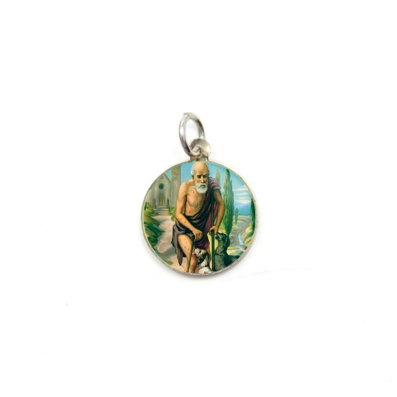 MD104232P5 - Medalha de Alumínio Redonda c/ 5un. São Lázaro - 1,5x1,5cm
