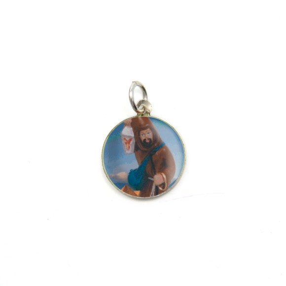 MD104233P5 - Medalha de Alumínio Redonda c/ 5un. São Longuinho - 1,5x1,5cm