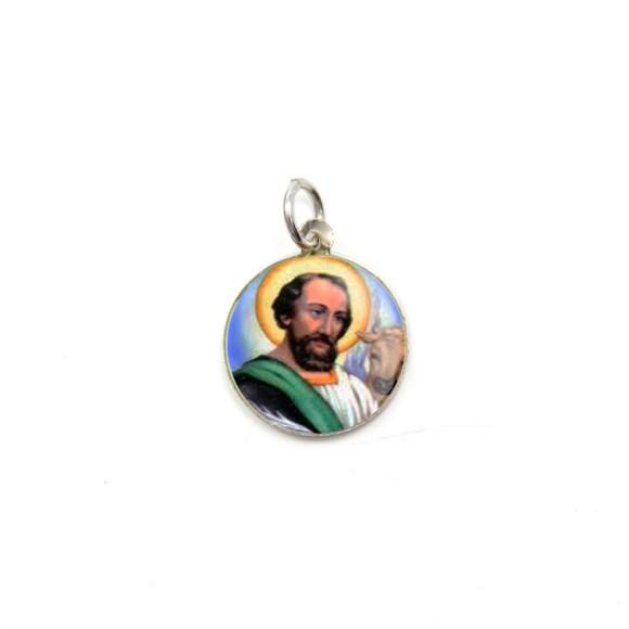 MD104234P5 - Medalha de Alumínio Redonda c/ 5un. São  Lucas - 1,5x1,5cm