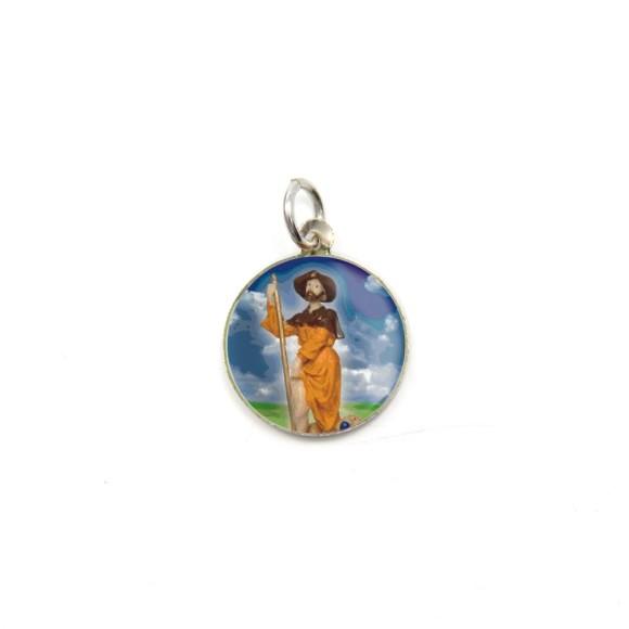 MD104239P5 - Medalha de Alumínio Redonda c/ 5un. São Roque - 1,5x1,5cm
