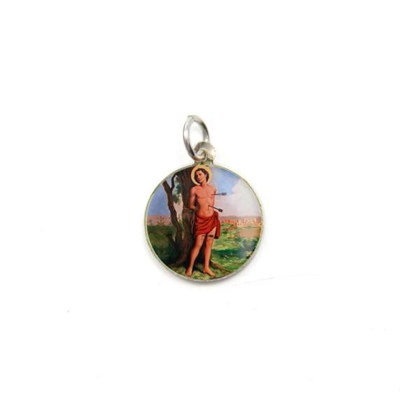 MD104240P5 - Medalha de Alumínio Redonda c/ 5un. São Sebastião - 1,5x1,5cm