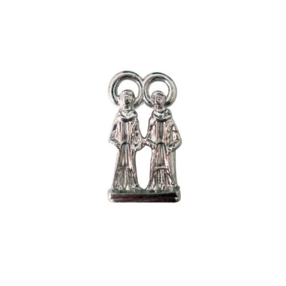 IM88403P3 - Imagem Miniatura São Cosme e Damião (Bolso) Metal Níquel c/ 3un. - 2,5X0,8cm