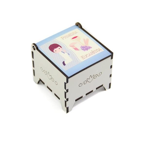 CXM112002 - Caixa de MDF Primeira Eucaristia Menino - 5,6x5,5cm