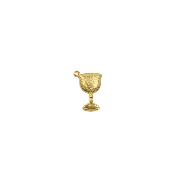 PG112050 - Pingente Cálice Primeira Eucaristia Dourada - 2,8x2cm