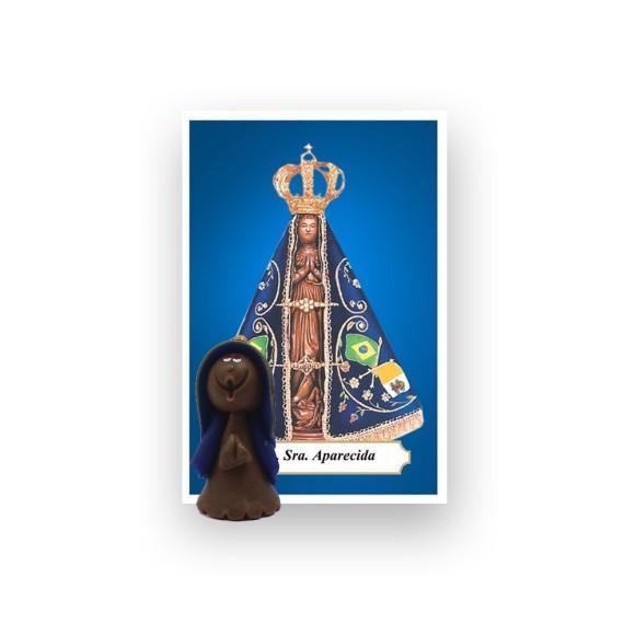 ST16001 - N. Sra. Aparecida de Biscuit c/ Oração - 6x4cm