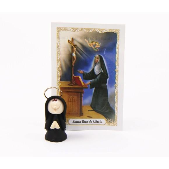 ST16008 - Santa Rita de Biscuit c/ Oração - 6x4cm