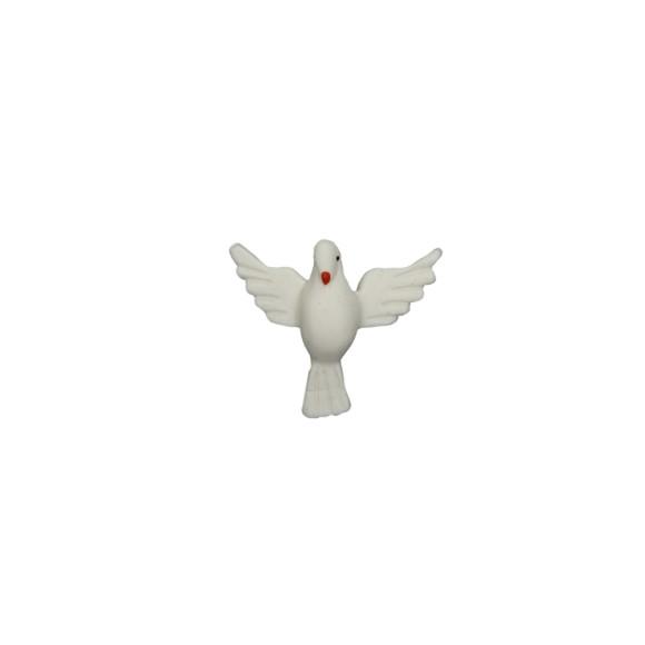 DI16041 - Divino Espírito Santo de Biscuit Branco - 4,5x4cm