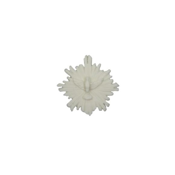 DI16100 - Divino Espírito Santo Resplendor Biscuit Branca - 4x4cm