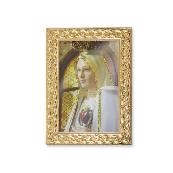 QD91002 - Quadro Moldura N. Sra. De Fátima - 13x18cm