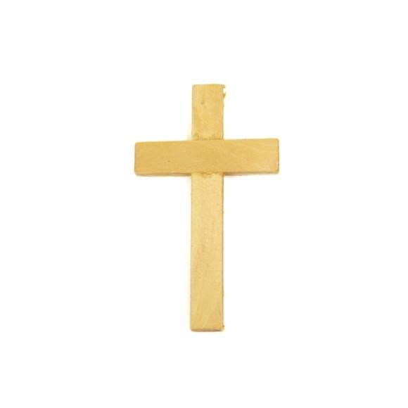 CZ76005 - Cruz Madeira Marfim - 8,5x5cm
