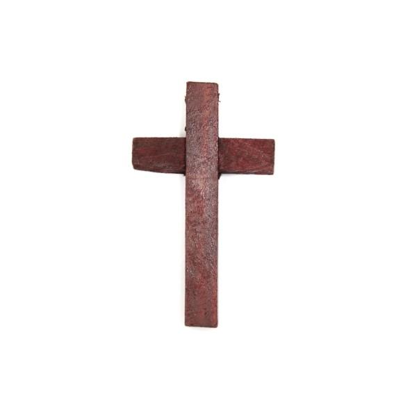 CZ76006 - Cruz Madeira Vermelha - 8,5x5cm